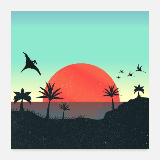 Collections Posters - Dreamland Beach: Wonderful Sunset - Posters white