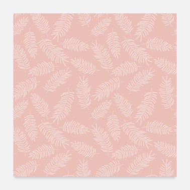 Suit Tropical Seamless Floral Pattern - Poster