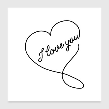 i love you 01 - Poster 24x24