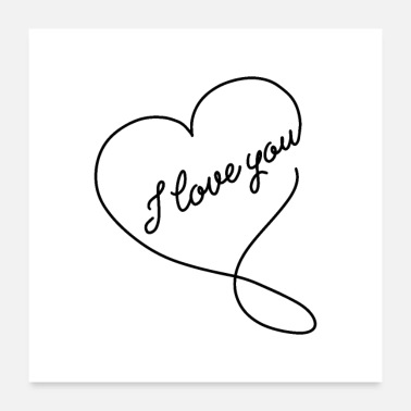 Love You i love you 01 - Poster 24x24