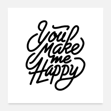 Typo Collection you make me happy 01 - Poster