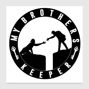 My Brothers Keeper Records - Poster 24x24