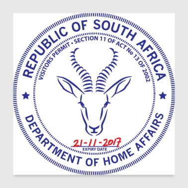Stamp South Africa Passport Stamp - Poster 24x24
