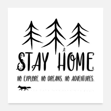 Geometry Stay Home - Poster 24x24