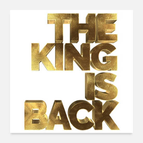 James Posters - The King is Back Golden - Posters white