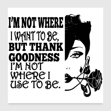 Woman Life Quotes Diva Queen Classy lady Make Up - Poster 24x24