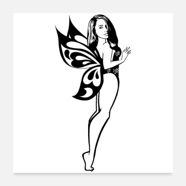 Sexy Fairy Tail Fantasy Angel Woman Magic Wand Classy - Poster
