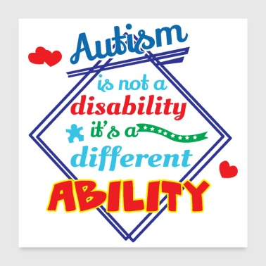 Puzzle Autism is not a disability its a different ability - Poster 24x24