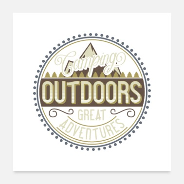 Outdoor Outdoor Camping Adventures - Poster 24x24