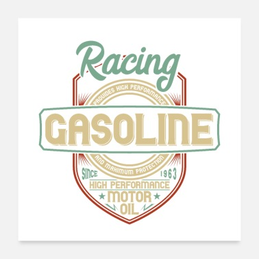 Gas Racing gasoline - Poster
