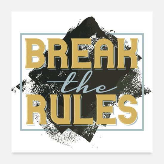 Collection Posters - Break the rules - Posters white