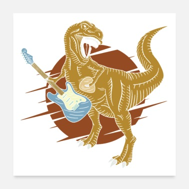 Gut T Rex Guitar Rock - Poster