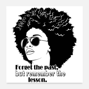 Afro people cool afro quotes copy - Poster 24x24