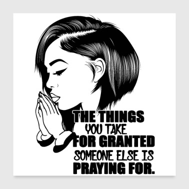 people praying pretty hairstyle quotes copy - Poster 24x24