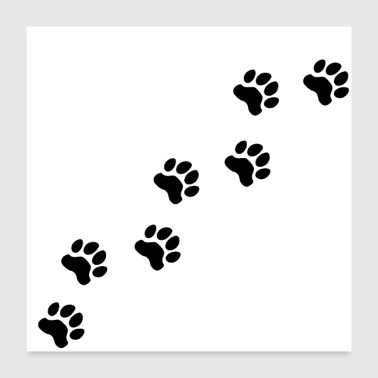 Dog Dog tracks, dog footprint, dog paw, dog, doggy - Poster 24x24