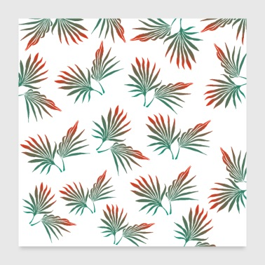 Leaf Tropical leaves, palm leaves, tropical leaf, palm - Poster 24x24