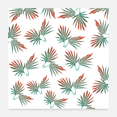 Patter Tropical leaves, palm leaves, tropical leaf, palm - Poster