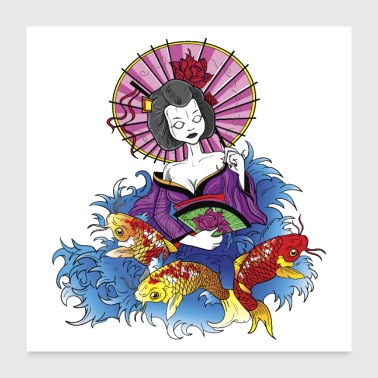 Asian Geisha - Poster 24x24