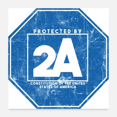 Exercise Protected By 2A - Poster 24x24