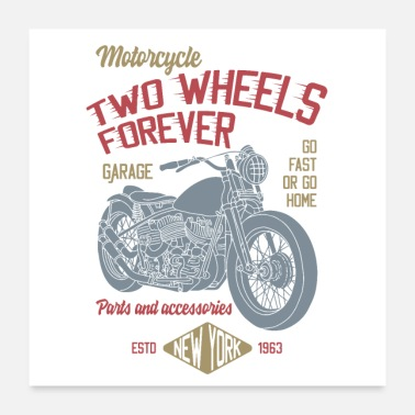 Bikes And Cars Collection TWO WHEELS FOREVER - Poster 24x24