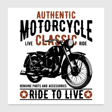 motorcycle classic authentic - Poster 24x24