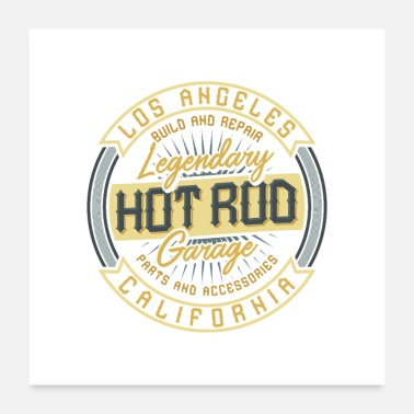 Hot Dog hot rods and bikes - Poster