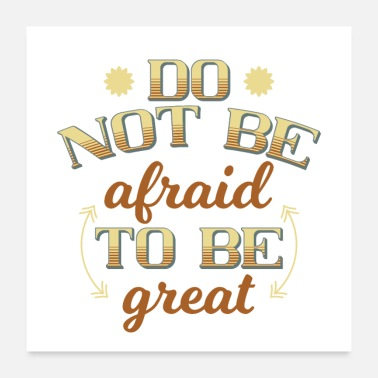 Note-clue not be afraid - Poster