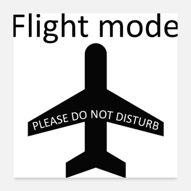 Disturbing Flight mode - please do not disturb - Poster