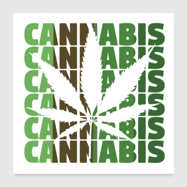 Leaf Cannabis hemp leaf - Poster 24x24