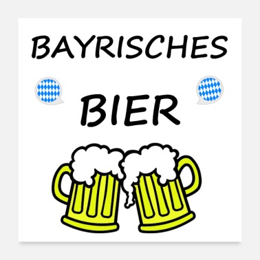 Wheat Bayrisches Bier - Poster