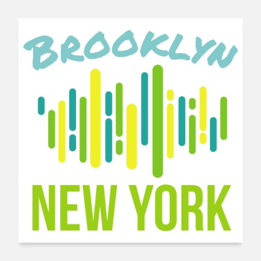 College Hiphop Brooklyn New York - Gift Idea - Poster 24x24
