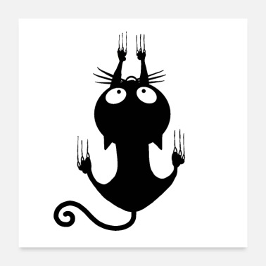 Miscellaneous Climbing Black Cat Halloween - Poster
