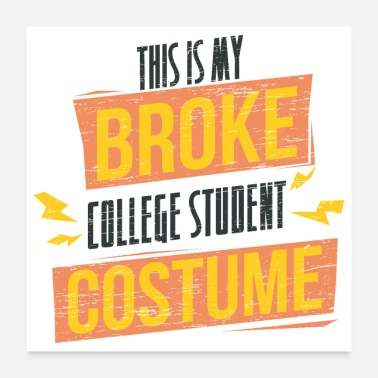 College Style Student This is my broke student costume grunge - Poster