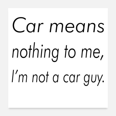 Carp Car means nothing to me, I'm not a car guy - Poster 24x24