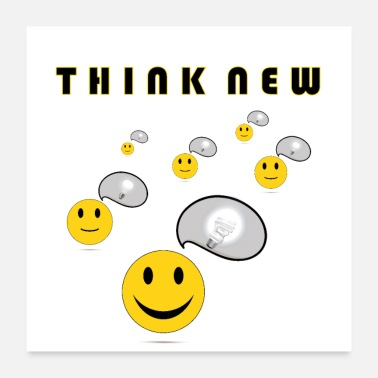 Popular Think New by Coded Arts Media - Poster 24x24