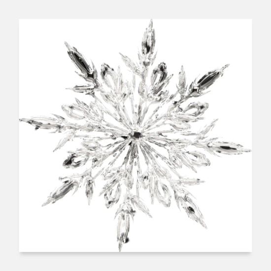Snowflake Posters - Ice Crystal - Posters white