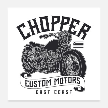 Custom Custom Motors Chopper - Poster