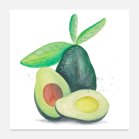 Love Posters - Hand Drawn Still Life Avocados - Posters white