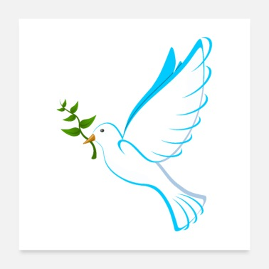 Global Dove of Peace - Poster 24x24