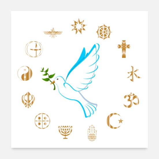Love Posters - Religions for Peace - Posters white