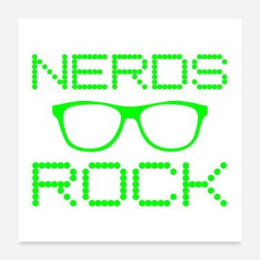 Expression Nerds Rock Nerdy Glasses Funny Computer Geek Tech - Poster
