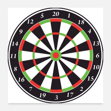Pitch Dart Board - Poster 24x24