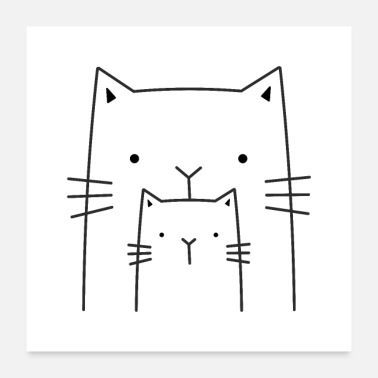 Wall Decoration Cats Cat Kitten Decoration Gift - Poster