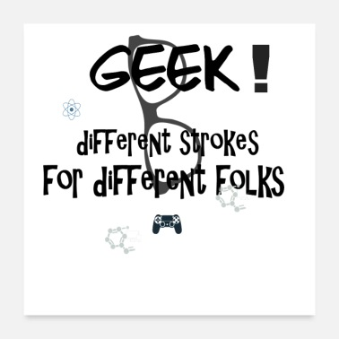 Genius Cool Geek Slogan Gift - Poster 24x24