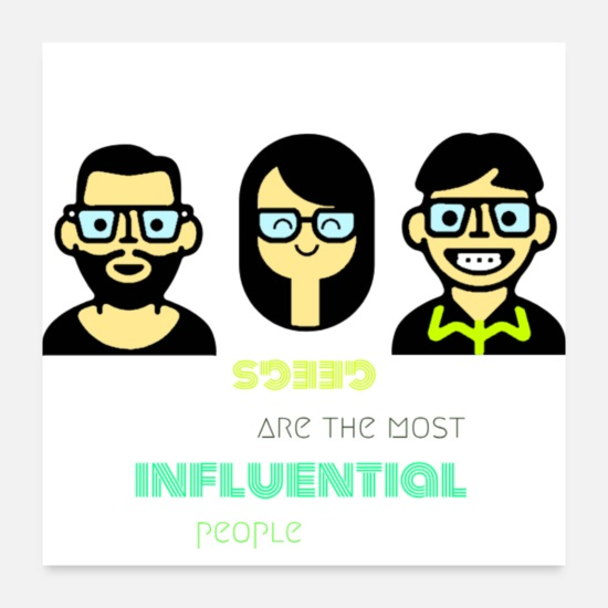 Geek Posters - geegs people - Posters white
