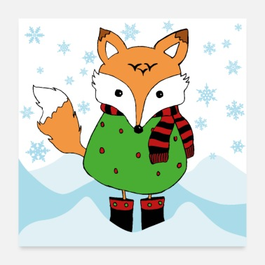 Kindergarten fuchs winter - Poster 24x24