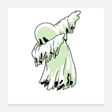 Ghost Dabbing ghost - Poster 24x24