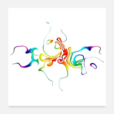 Color Abstract - colorful play of colors - Poster