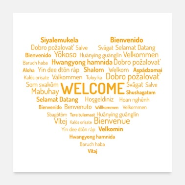 Language welcome print - Poster