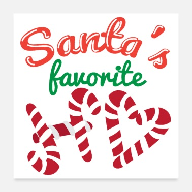 Favorite Grandpa Christmas Santa's Favorit HO - Gift Idea - Poster